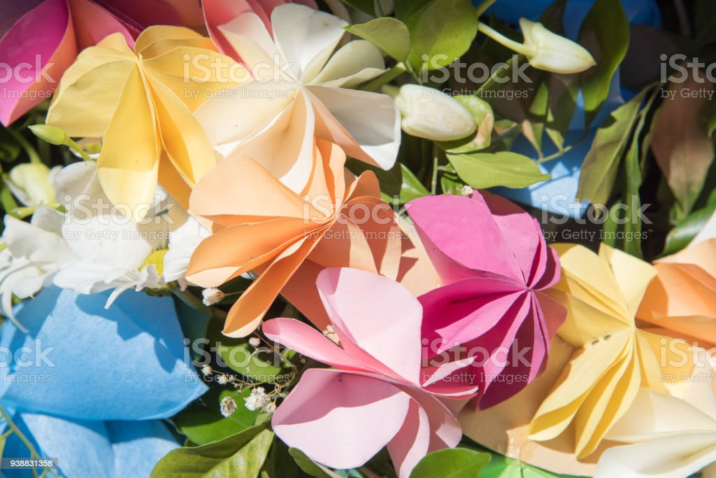 Origami Paper Flower Arrangement Stock Photo More Pictures Of