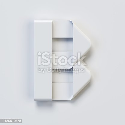 845304606 istock photo Origami paper font, folded ribbon font, letter B 1180610675