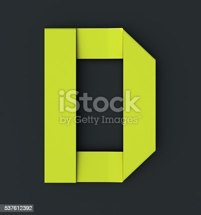184385936istockphoto Origami paper font . Uppercase letter D 537612392