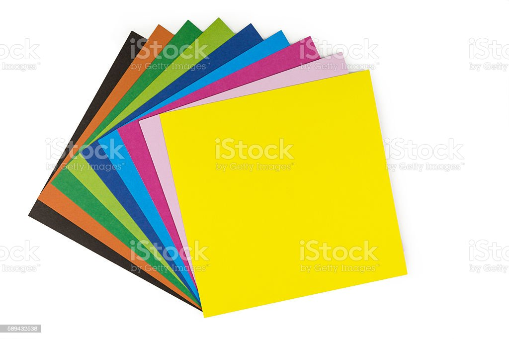 origami paper stock photo