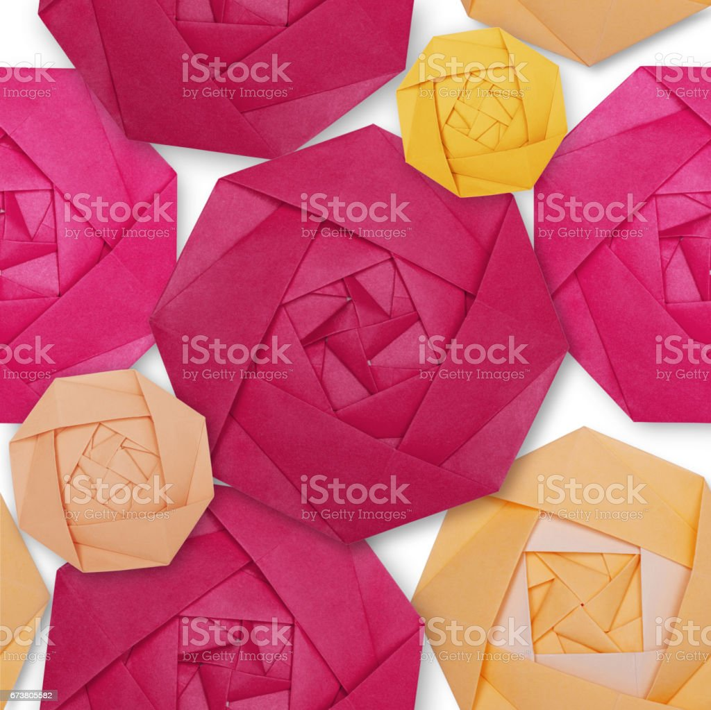 Origami paper pink rose pattern photo libre de droits