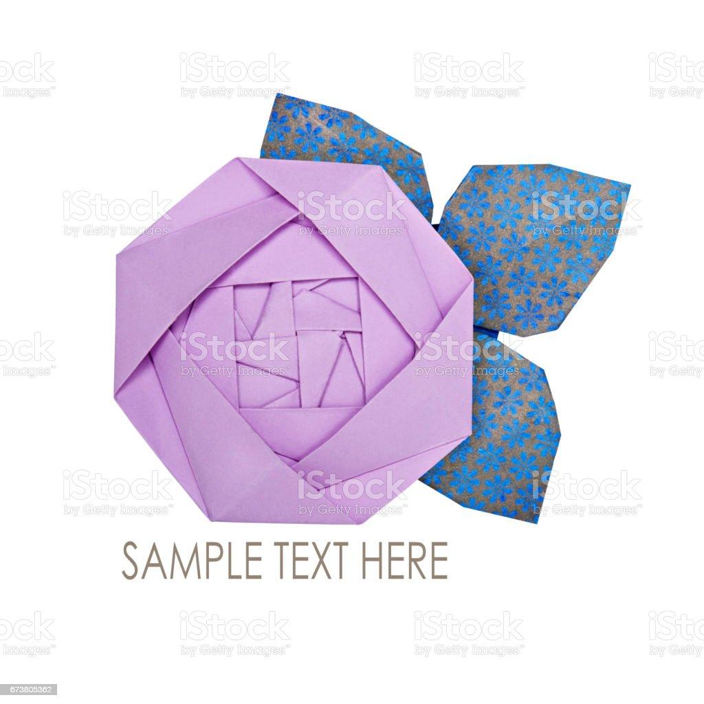 Origami paper pink rose photo libre de droits