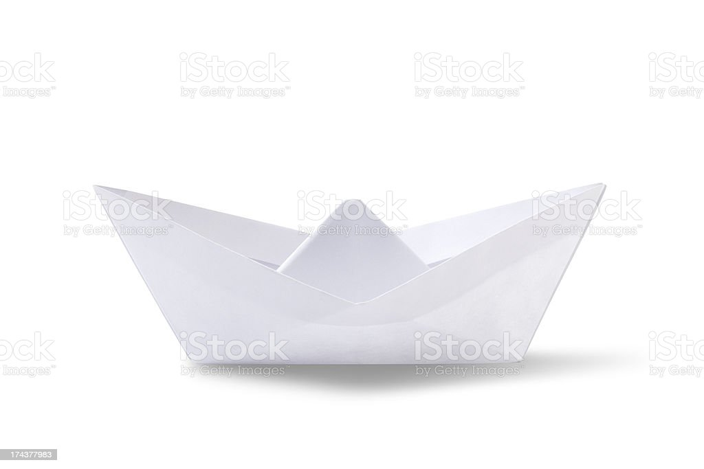 origami paper ship royalty-free stock photo