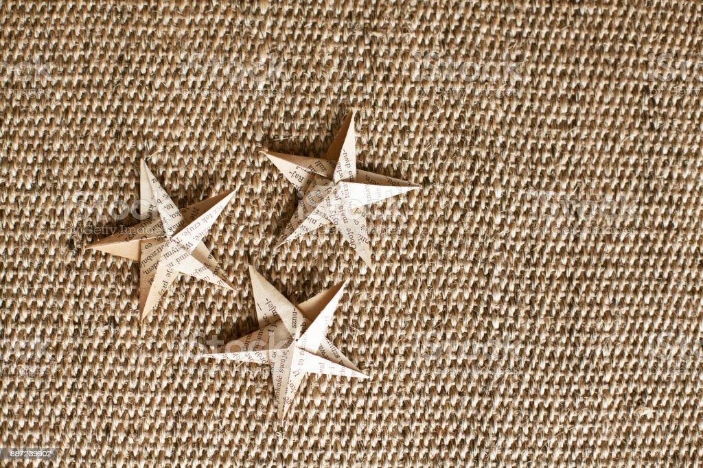 origami paper stars stock photo