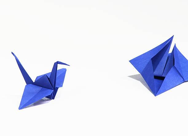 origami - origami anleitungen stock-fotos und bilder
