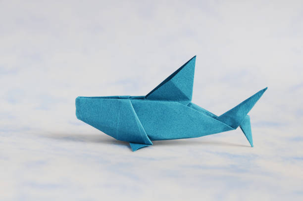Origami Shark stock photo