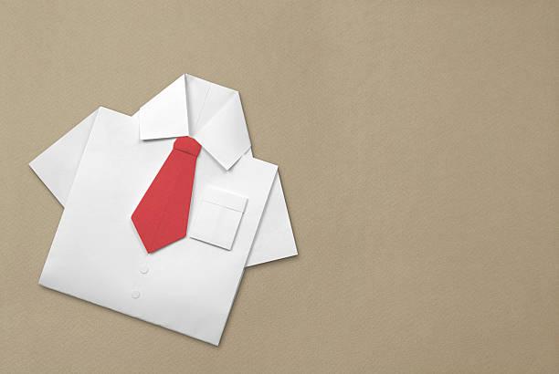 Origami Shirt and Tie stok fotoğrafı