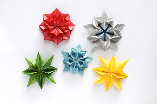 Origami Snowflake and Star