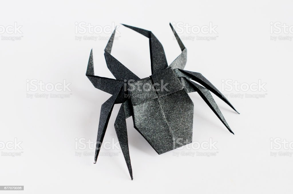 Origami Spider Stock Photo More Pictures Of Black Color Istock