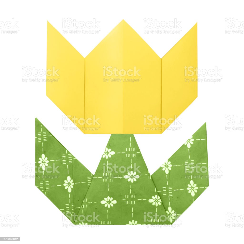 Origami tulip paper photo libre de droits