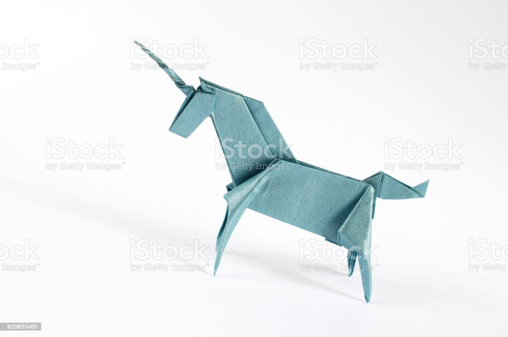 Origami Unicron stock photo