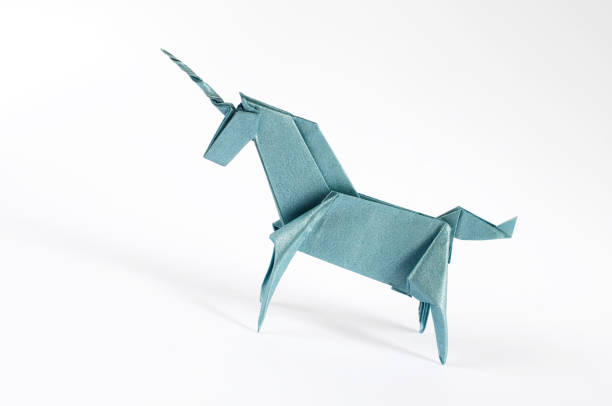 Origami Unicron stock photo