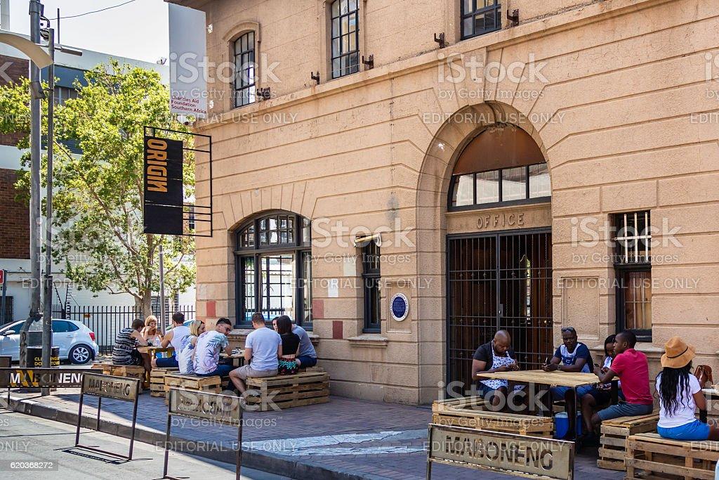 Origin restaurant at Maboneng precinct in Johannesburg city zbiór zdjęć royalty-free