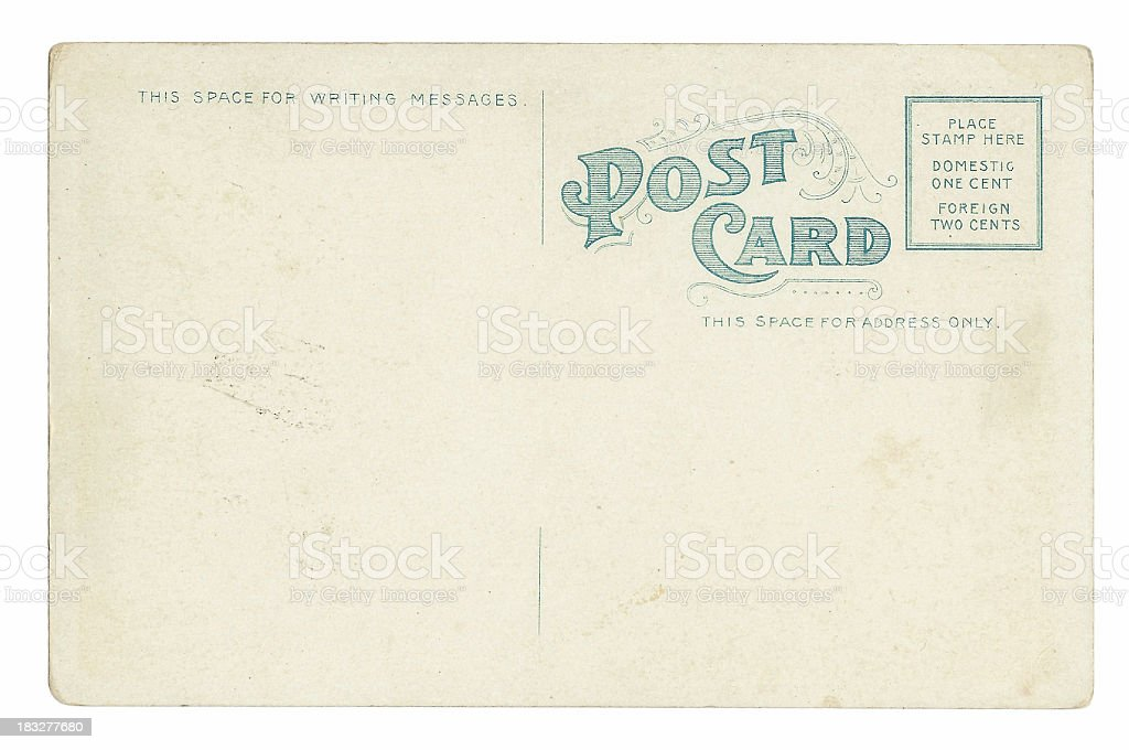 Original 1915 Postcard royalty-free stock photo