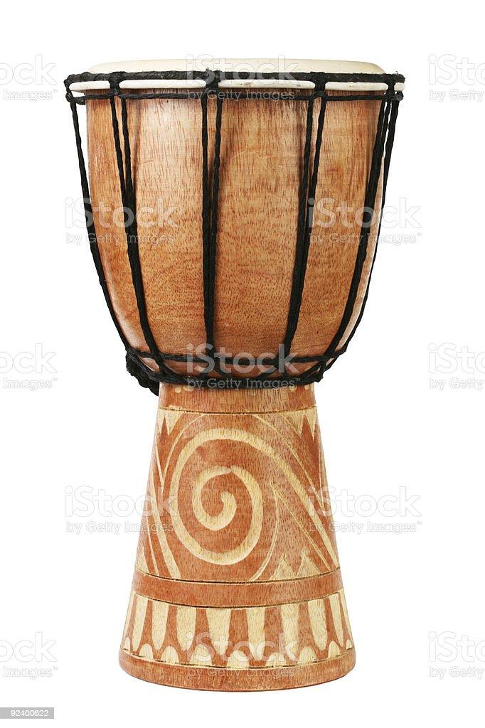 Original african djembe drum stock photo