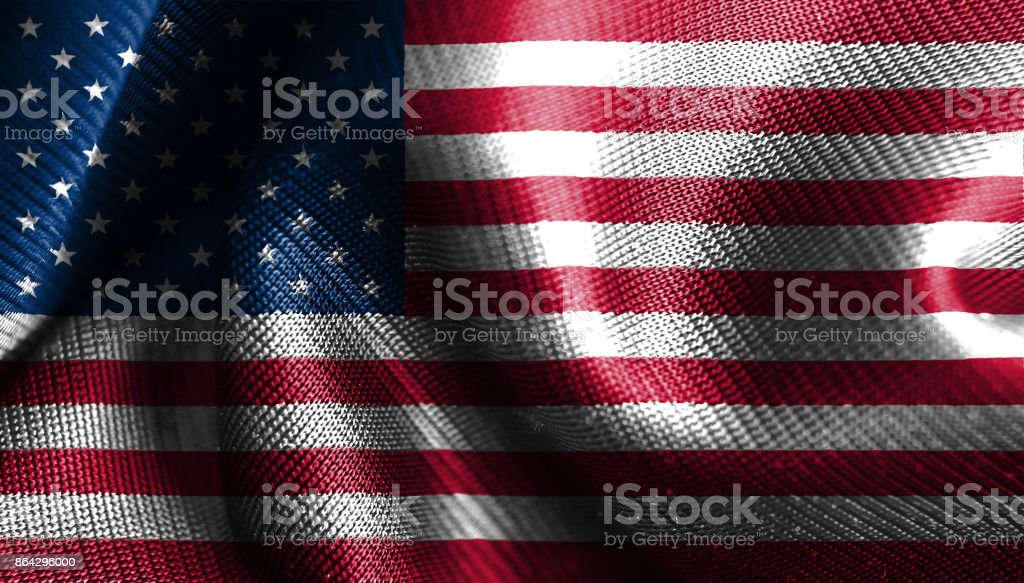original and simple United State of America flag isolated vector in official colors royalty-free stock photo