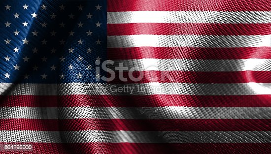 Original And Simple United State Of America Flag Isolated Vector In Official Colors Stock Photo & More Pictures of Abstract