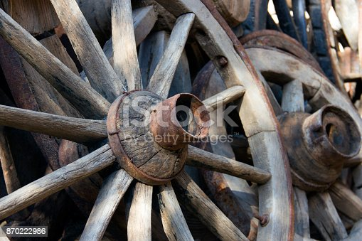 Mode of Transport, Wagon Wheel, Turkey, Antique