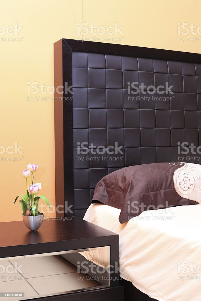 Original back of a bed royalty-free stock photo