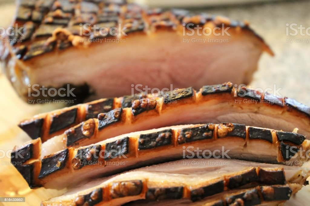 Original bavarian pork roast stock photo