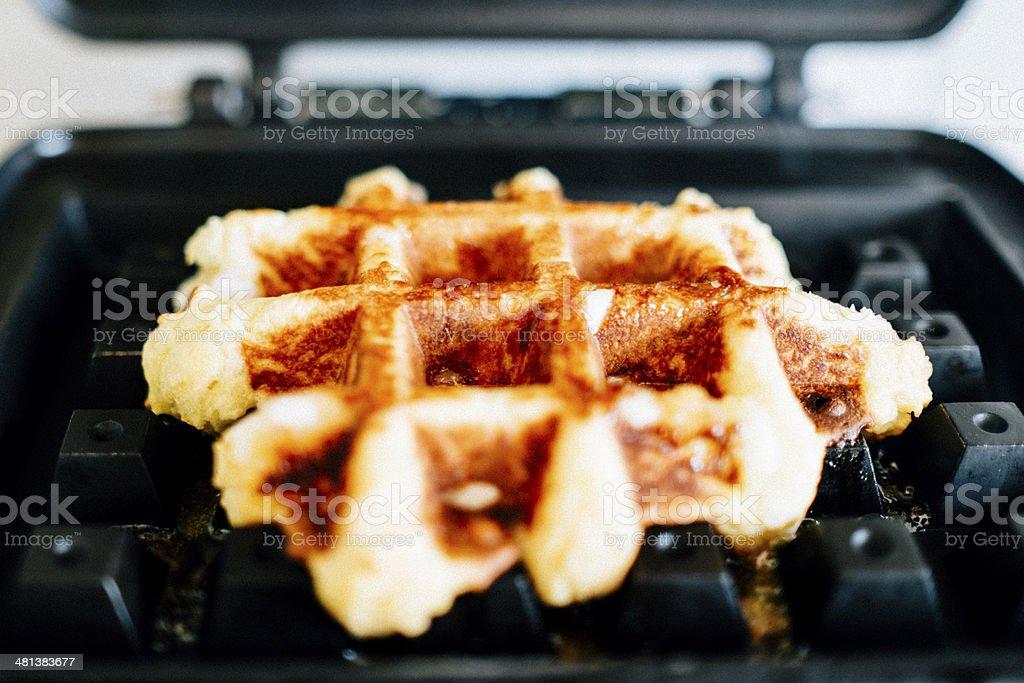 Original Belgian Waffles stock photo