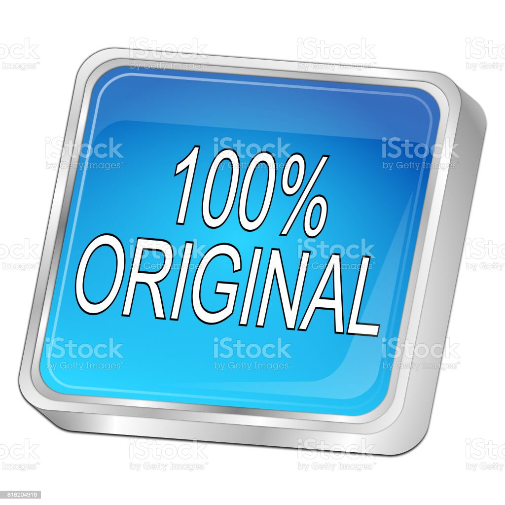 huge discount 2f6f1 15ac5 100% Original button - 3D illustration royalty-free stock photo