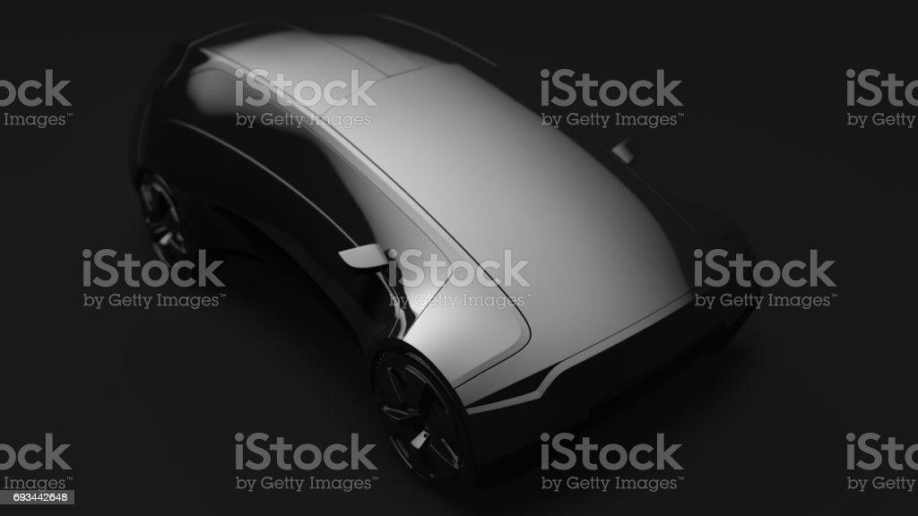 Original concept design car, 3d render stock photo