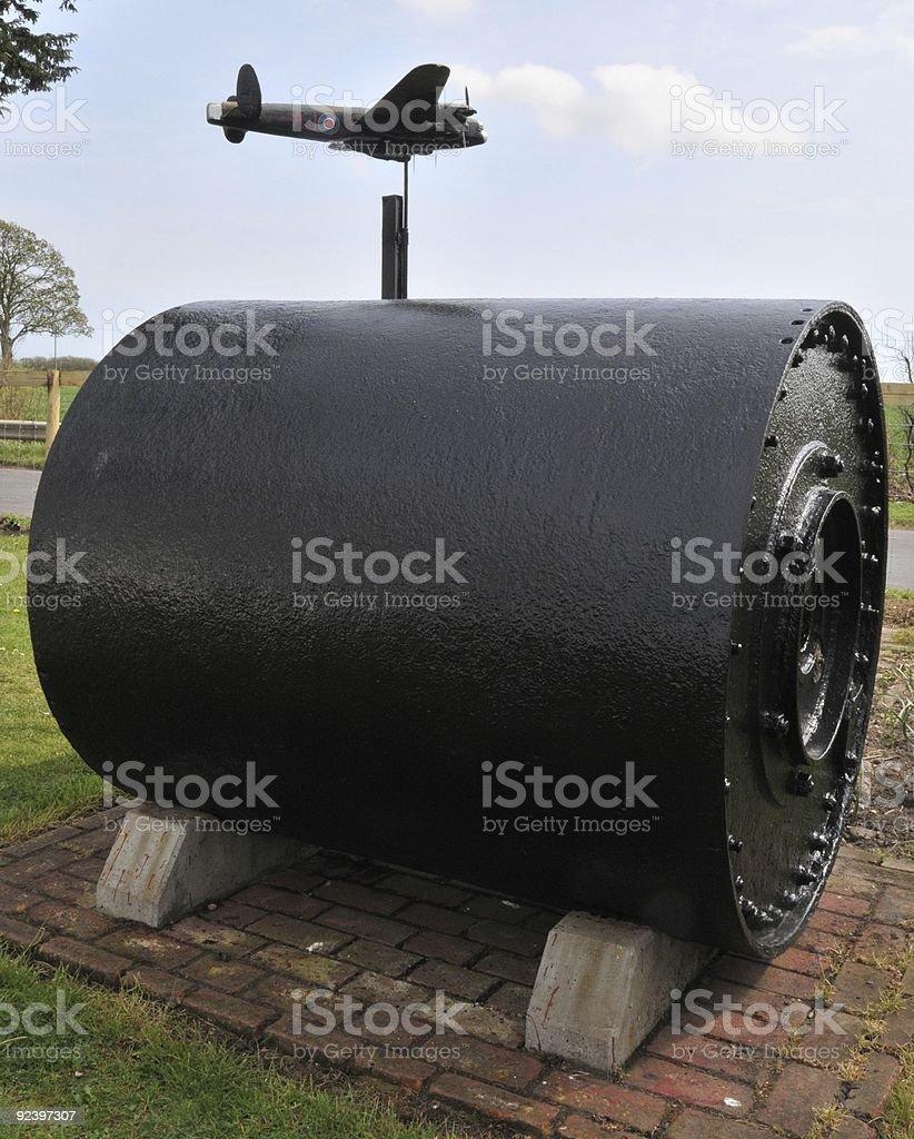 Original Dam Buster Bomb stock photo