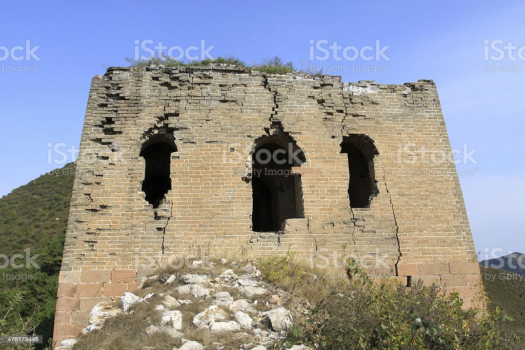 original ecology of the great wall royalty-free stock photo