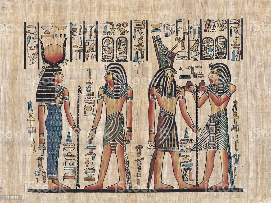 Original egyptian papyrus stock photo