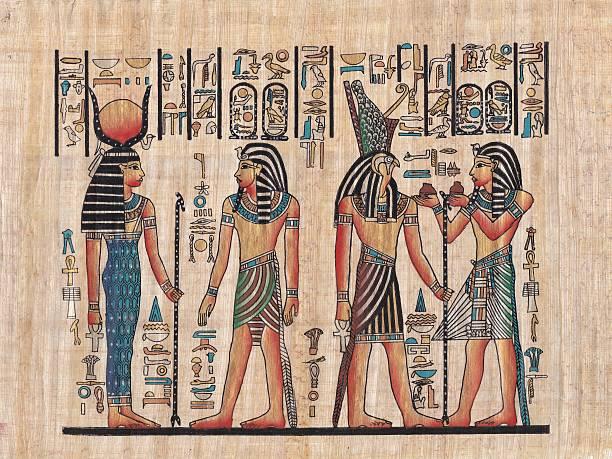 original egyptian papyrus - egyptisk kultur bildbanksfoton och bilder