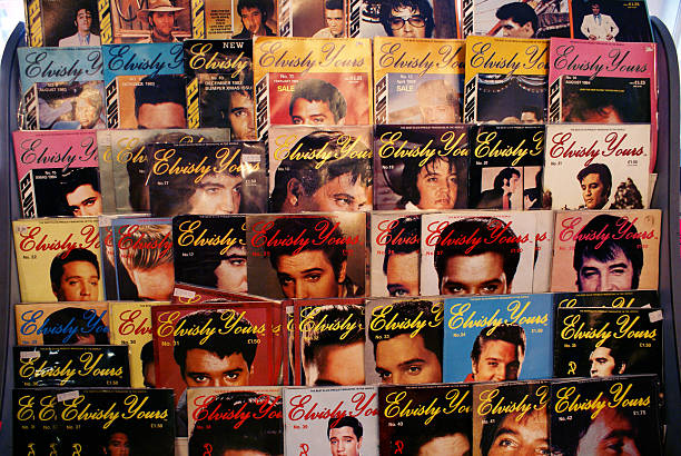 original elvisly yours collectors magazine - elvis stock photos and pictures