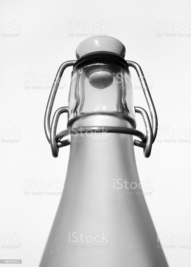 original flip top glass bottle royalty-free stock photo