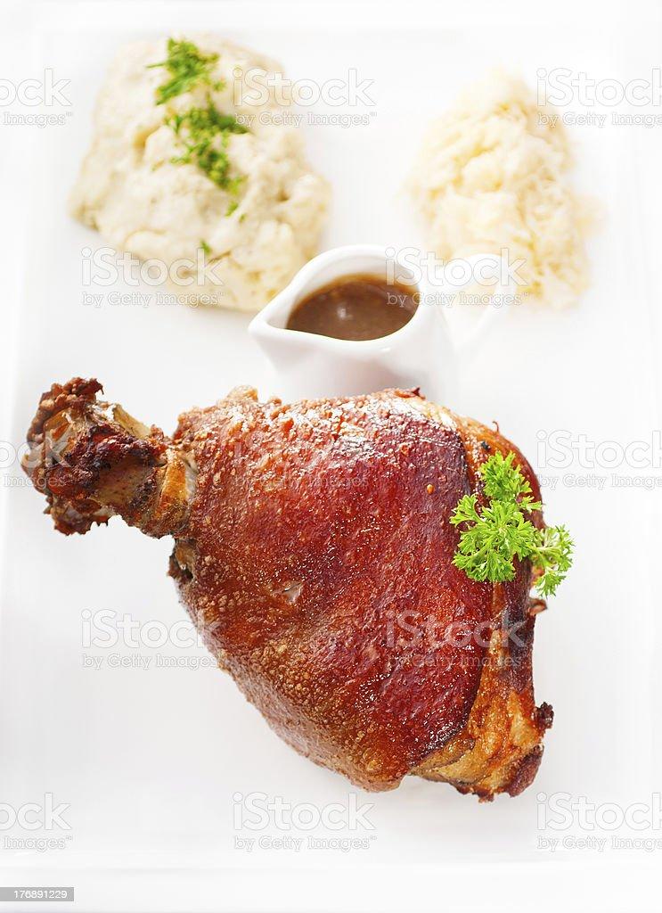 original German BBQ pork  knuckle royalty-free stock photo