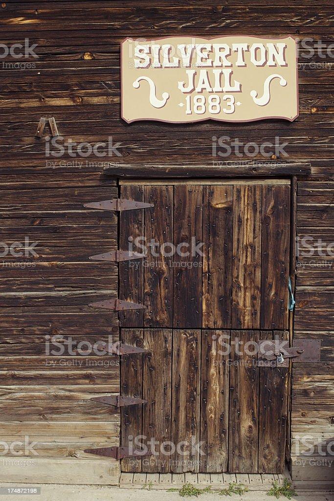 Original Jail - Silverton, Colorado stock photo