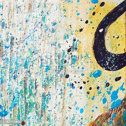 An Original Modern Abstract Contemporary Art Acrylic and Oil Painting Background.
