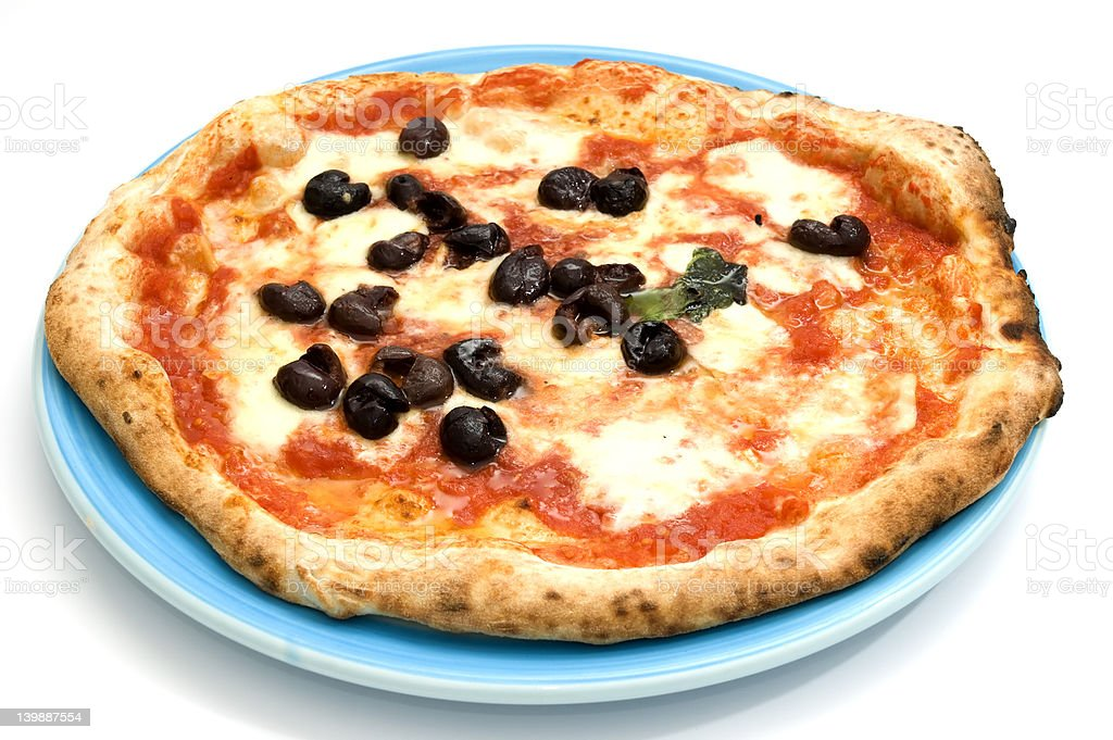 Original Neapolitan pizza royalty-free stock photo