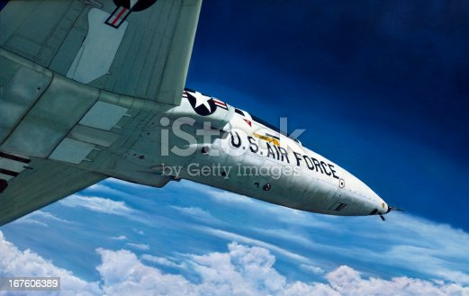Original Oil Painting of a  USAF T-38 jet.