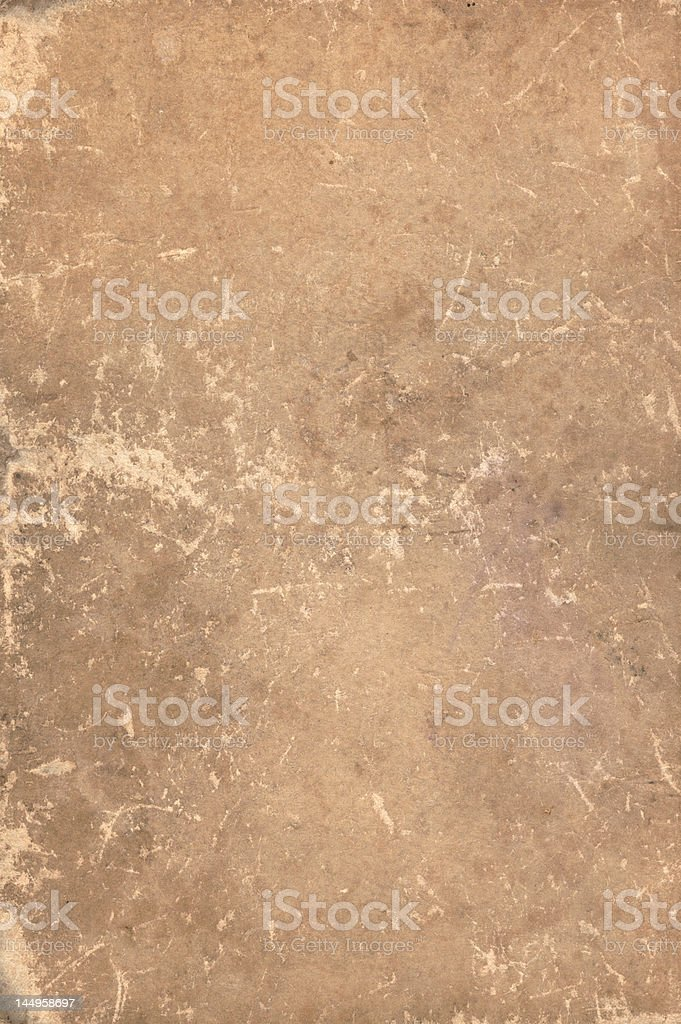 Original old scratched book cover XXL stock photo