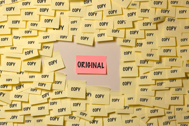 Original or copy Original or copy imitation stock pictures, royalty-free photos & images
