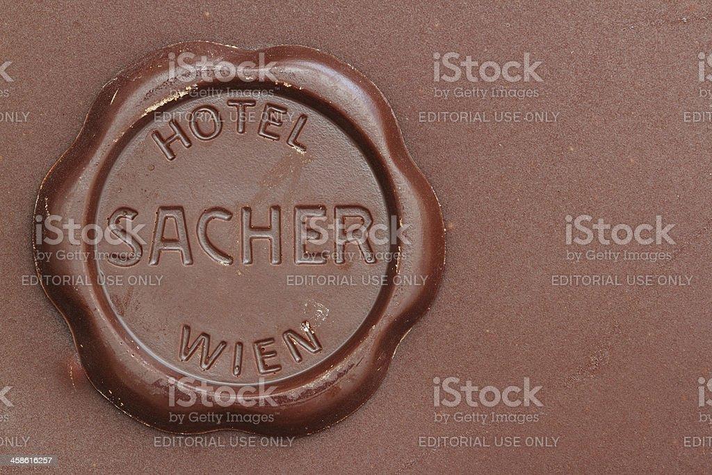 Original Sacher Cake Detail stock photo