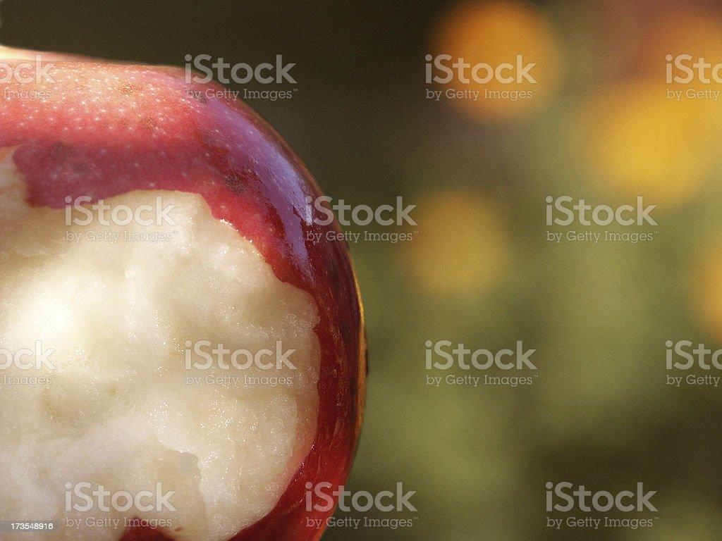 Original Sin - First bite of the apple in Eden stock photo
