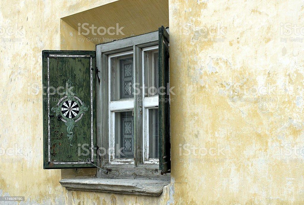 Original swiss window royalty-free stock photo