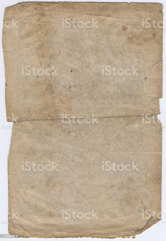 Original vintage paper XXL royalty-free stock photo