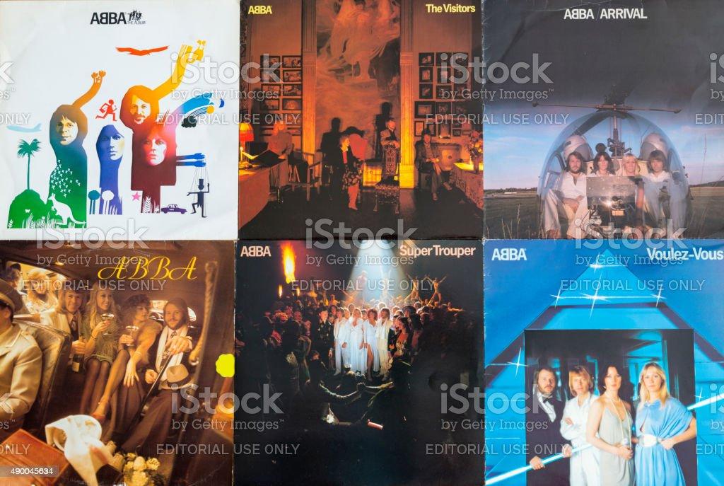 ABBA Original Vinyl record covers foto