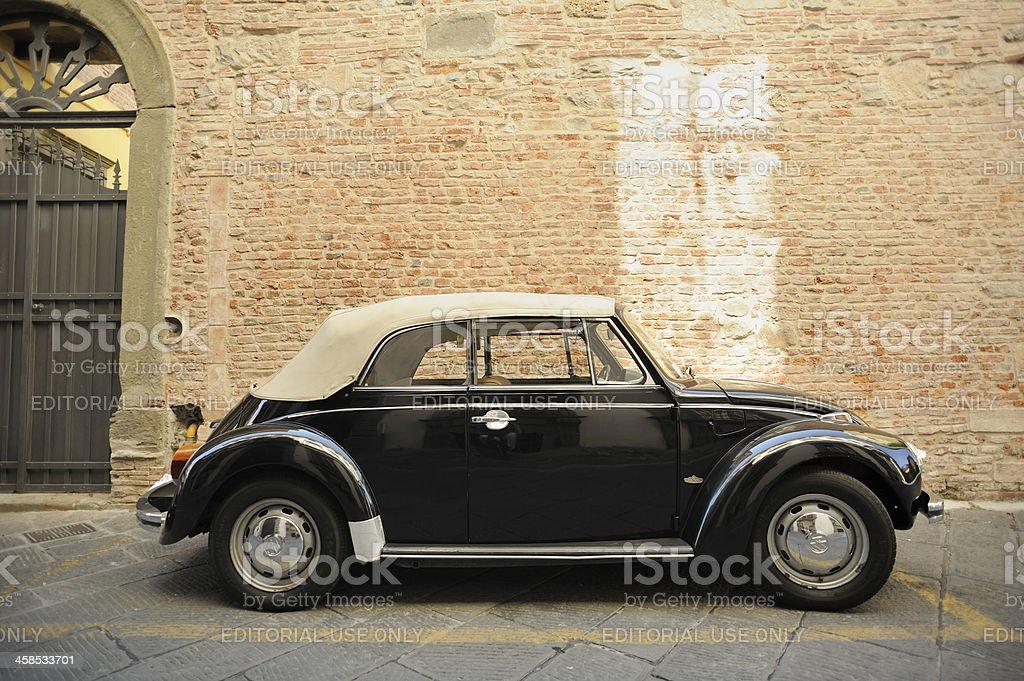 Original VW Beetle Convertible by Karmann royalty-free stock photo