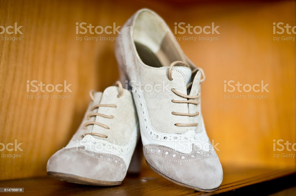 Original Wedding Shoes Royalty Free Stock Photo