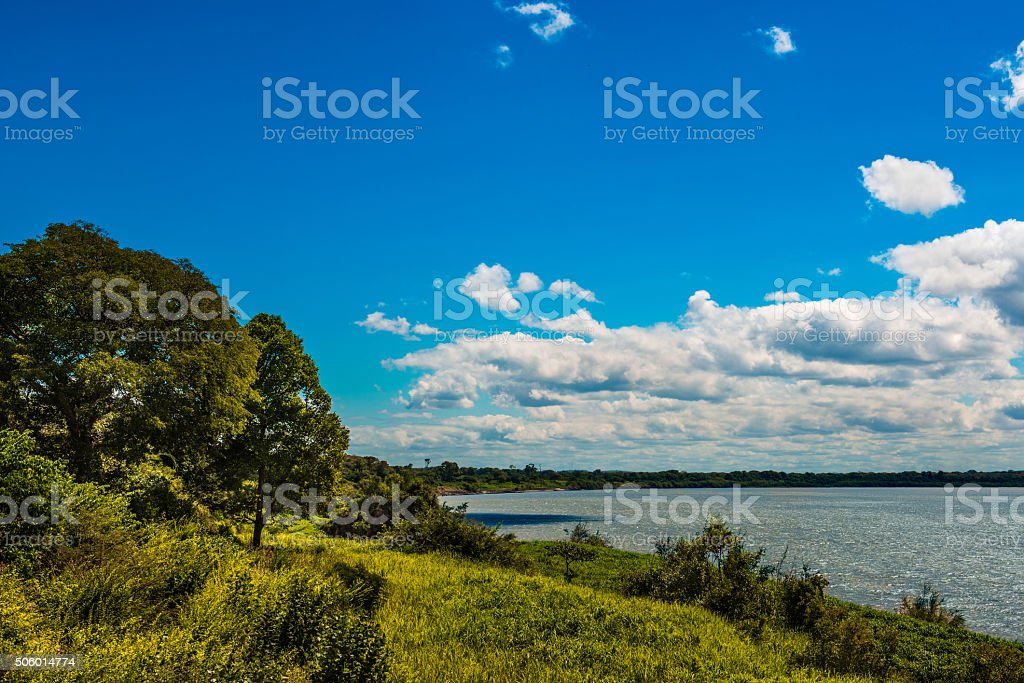 Orinoco as viewed from Mapire, Venezuela stock photo