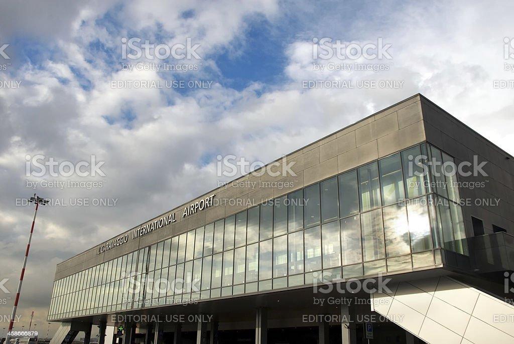 Orio al Serio Airport stock photo