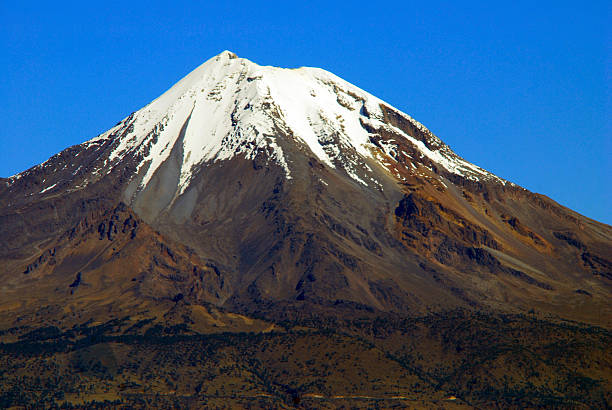 Orizaba Peak Citlaltepetl, Mexico. Seen from west orizaba stock pictures, royalty-free photos & images